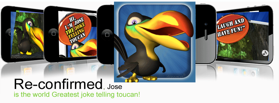 Jose the Joke telling toucan